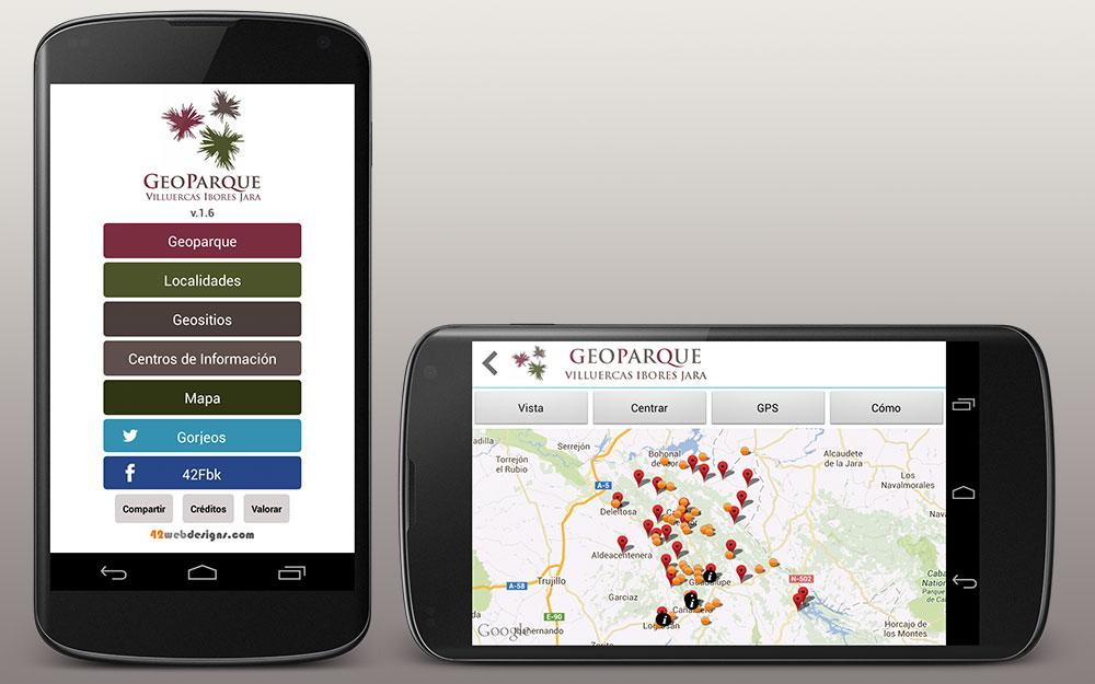 GeoVIJ para Android smartphones/tablets